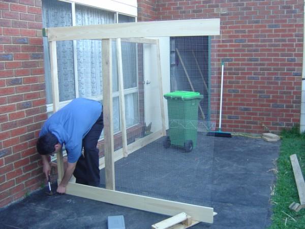 Stage 2 of coop building