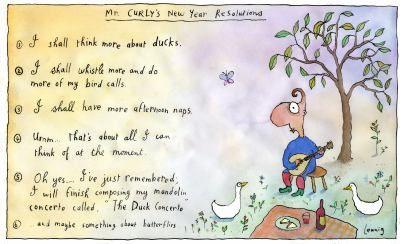 Leunig New Years resolutions