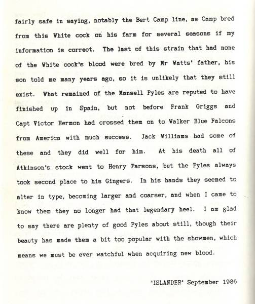 short history on pyles